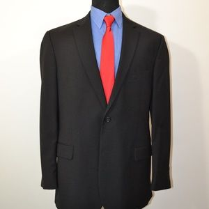 Pronto Uomo 46L Sport Coat Blazer Suit Jacket Blac